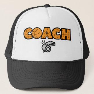 オレンジバスケットボールのコーチ笛 キャップ