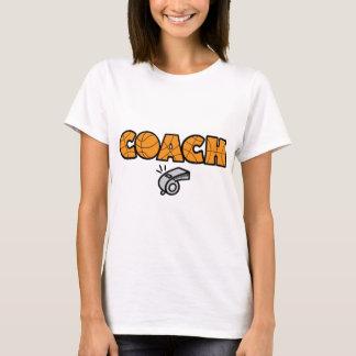 オレンジバスケットボールのコーチ笛 Tシャツ