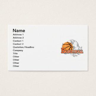 オレンジバスケットボールのTシャツおよびギフト 名刺