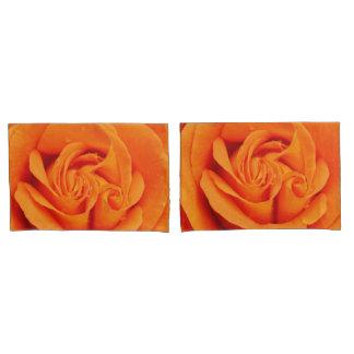オレンジバラの花の枕箱 枕カバー