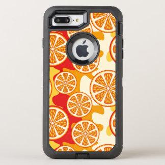 オレンジパターン オッターボックスディフェンダーiPhone 8 PLUS/7 PLUSケース