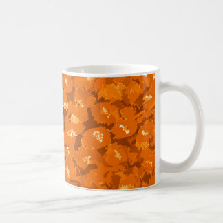 オレンジヒョウのプリント コーヒーマグカップ