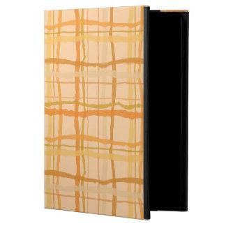 オレンジビーチの日没の格子縞のiPadの箱