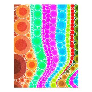 オレンジピンクの青い円の抽象芸術 レターヘッド