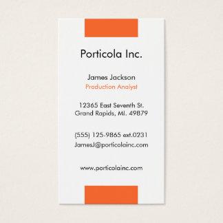 オレンジブロックの平野の名刺 名刺