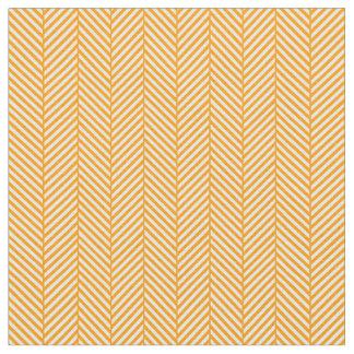 オレンジヘリンボン ファブリック