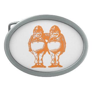オレンジベルトの留め金で音楽で誘います 卵形バックル