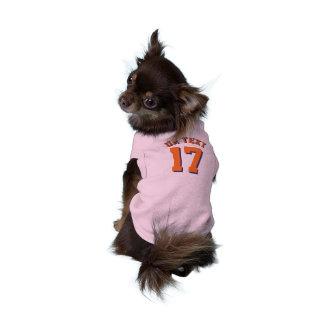 オレンジペット スポーツのジャージーのピンク及びデザイン ペット服