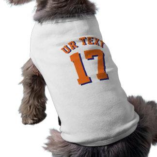 オレンジペット スポーツのジャージーの白い及びデザイン ペット服