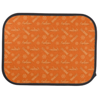 オレンジボブスレーパターン カーマット