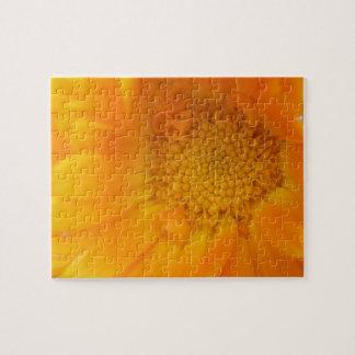 オレンジマリーゴールドのマクロパズル ジグソーパズル