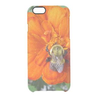 オレンジマリーゴールドの蜂の花 クリアiPhone 6/6Sケース