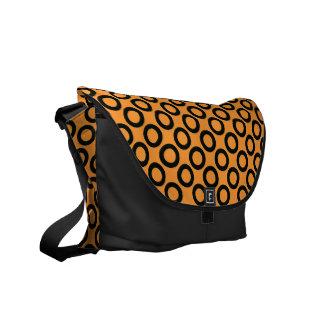 オレンジメッセンジャーバッグの黒いレトロのリング メッセンジャーバッグ