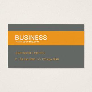 オレンジモダンでスタイリッシュで上品で明白なシンプル スタンダード名刺