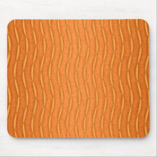 オレンジモダンな縦のストライプのなデザイン マウスパッド