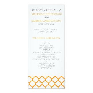 オレンジモロッコの結婚式プログラム カード