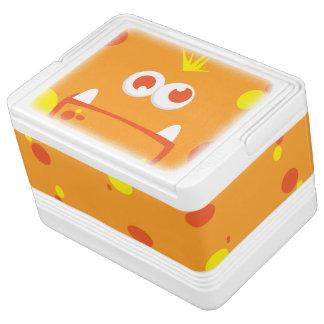 オレンジモンスターの顔のイグルーのクーラーボックス IGLOOクーラーボックス