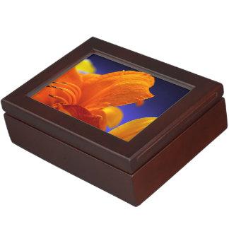 オレンジユリの花束 ジュエリーボックス
