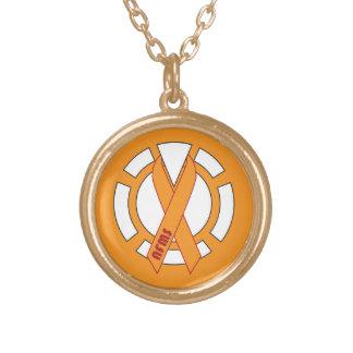 オレンジランタンの金ゴールドのネックレス ゴールドプレートネックレス