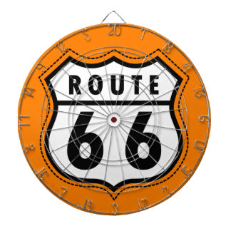 オレンジルート66の交通標識 ダーツボード