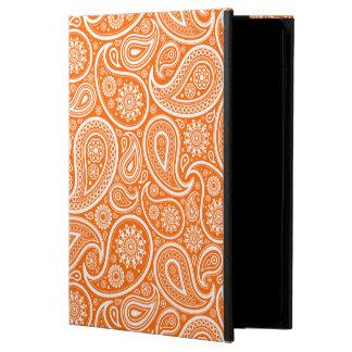 オレンジレトロのペイズリーパターンの白 POWIS iPad AIR 2 ケース