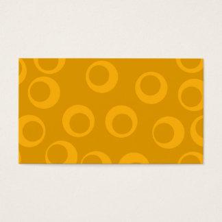 オレンジレトロパターン 名刺