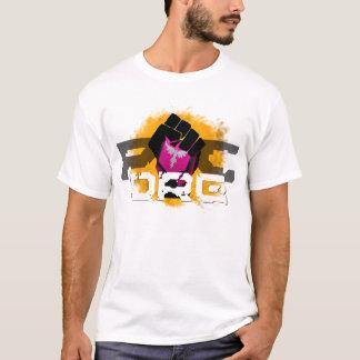 オレンジロゴのTシャツ: 白い人 Tシャツ