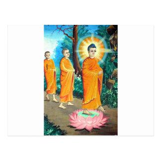 オレンジローブの啓発された仏教徒 ポストカード