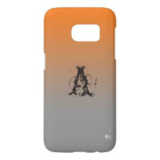 オレンジヴィスタグラデーションでカスタムなSamsungの銀河系S7の箱 Samsung Galaxy S7 ケース