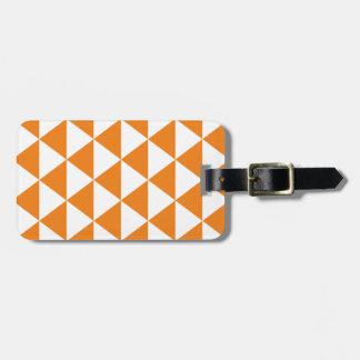 オレンジ三角形パターン ラゲッジタグ