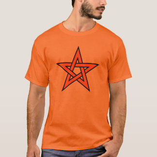 オレンジ五芒星 Tシャツ
