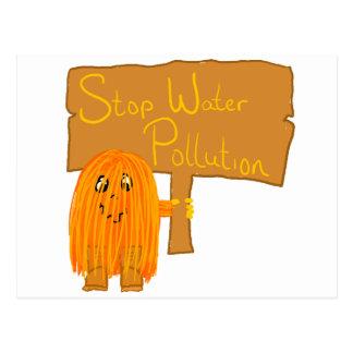 オレンジ停止水質汚染 ポストカード