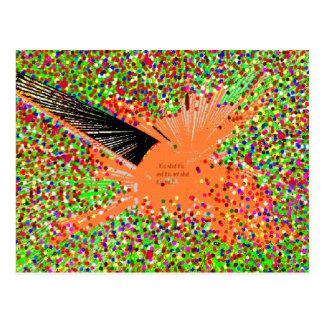 オレンジ内気な魚 ポストカード