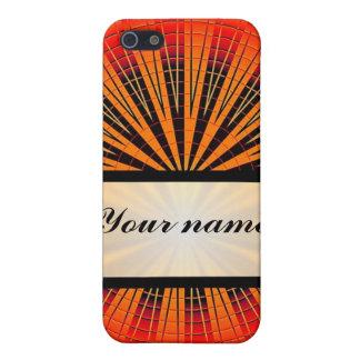 オレンジ円及び黒く及び白いチェッカーボード iPhone 5 カバー