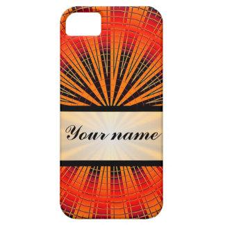 オレンジ円及び黒く及び白いチェッカーボード iPhone SE/5/5s ケース