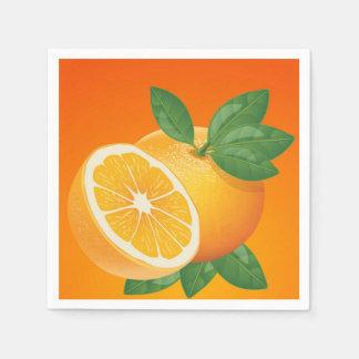 オレンジ切れのカクテルのナプキン スタンダードカクテルナプキン