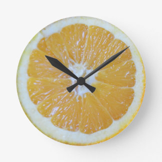 オレンジ切れのノベルティ ラウンド壁時計