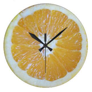 オレンジ切れのノベルティ ラージ壁時計