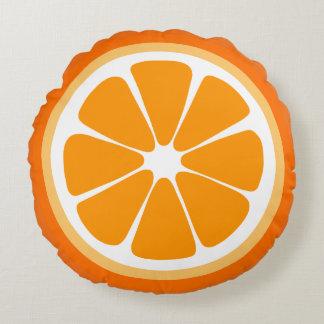 オレンジ切れの食糧枕 ラウンドクッション