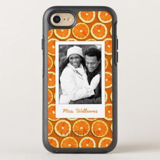 オレンジ切れパターン|はあなたの写真を加えます オッターボックスシンメトリーiPhone 8/7 ケース