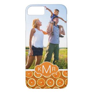 オレンジ切れパターン|はあなたの写真を加えます iPhone 8/7ケース