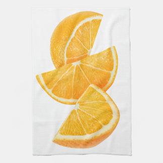 オレンジ切れ キッチンタオル