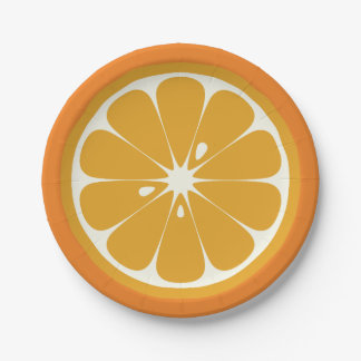 オレンジ切れ ペーパープレート