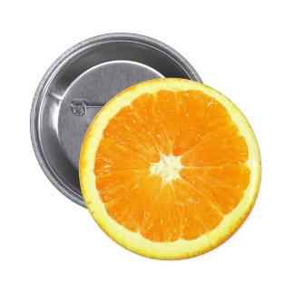 オレンジ切れ 5.7CM 丸型バッジ