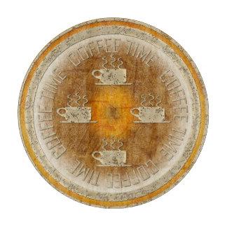 オレンジ勾配のコーヒー時間金ゴールド カッティングボード