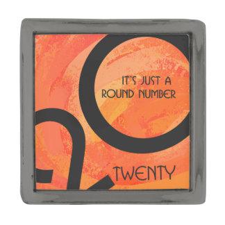 オレンジ十年の第20誕生日 ガンメタル ラペルピン