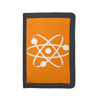 オレンジ原子 ナイロン三つ折りウォレット