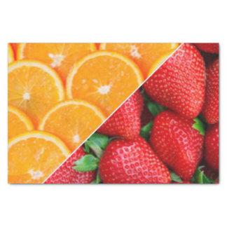 オレンジ及びいちごのコラージュ 薄葉紙