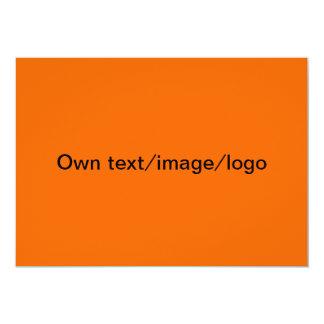 オレンジ及び濃紺招待状単 12.7 X 17.8 インビテーションカード