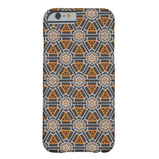 オレンジ及び灰色(張りつめたワッフル)の斜め順序 BARELY THERE iPhone 6 ケース